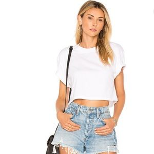 White Cropped T